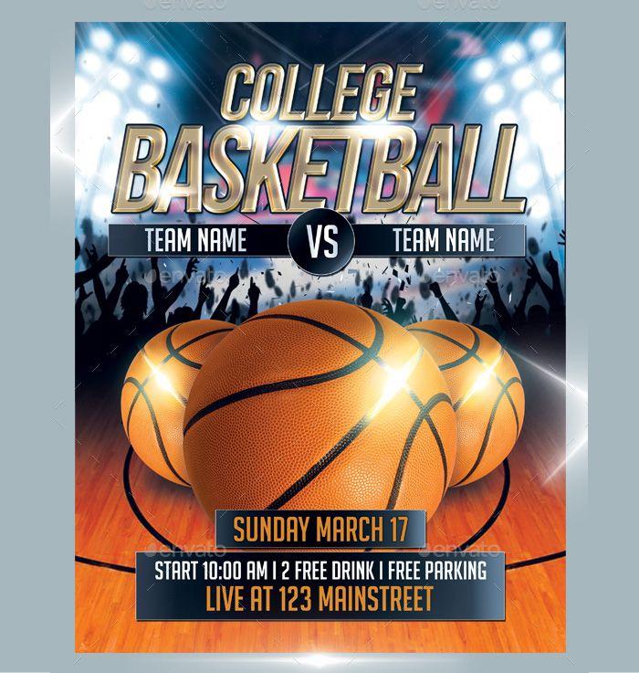 college-basketball-flyer-psd Flyer Templates Pinterest Psd - basketball flyer example