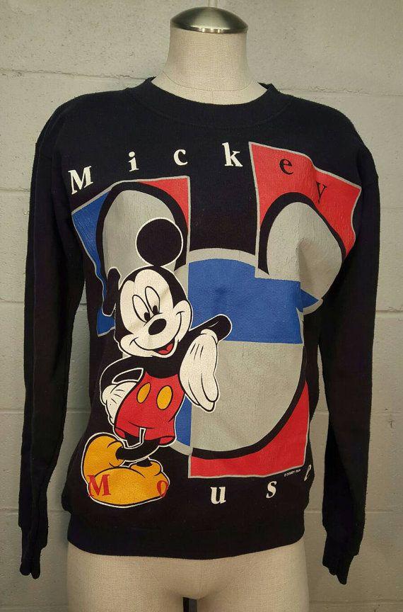 80s Mickey Mouse Sweatshirt Disney Medium M by SweetDahliaVintage