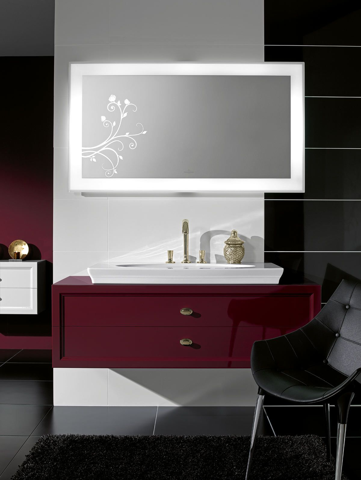 villeroy boch la belle furniture in framboise glaze - Villeroy And Boch Bathroom Furniture