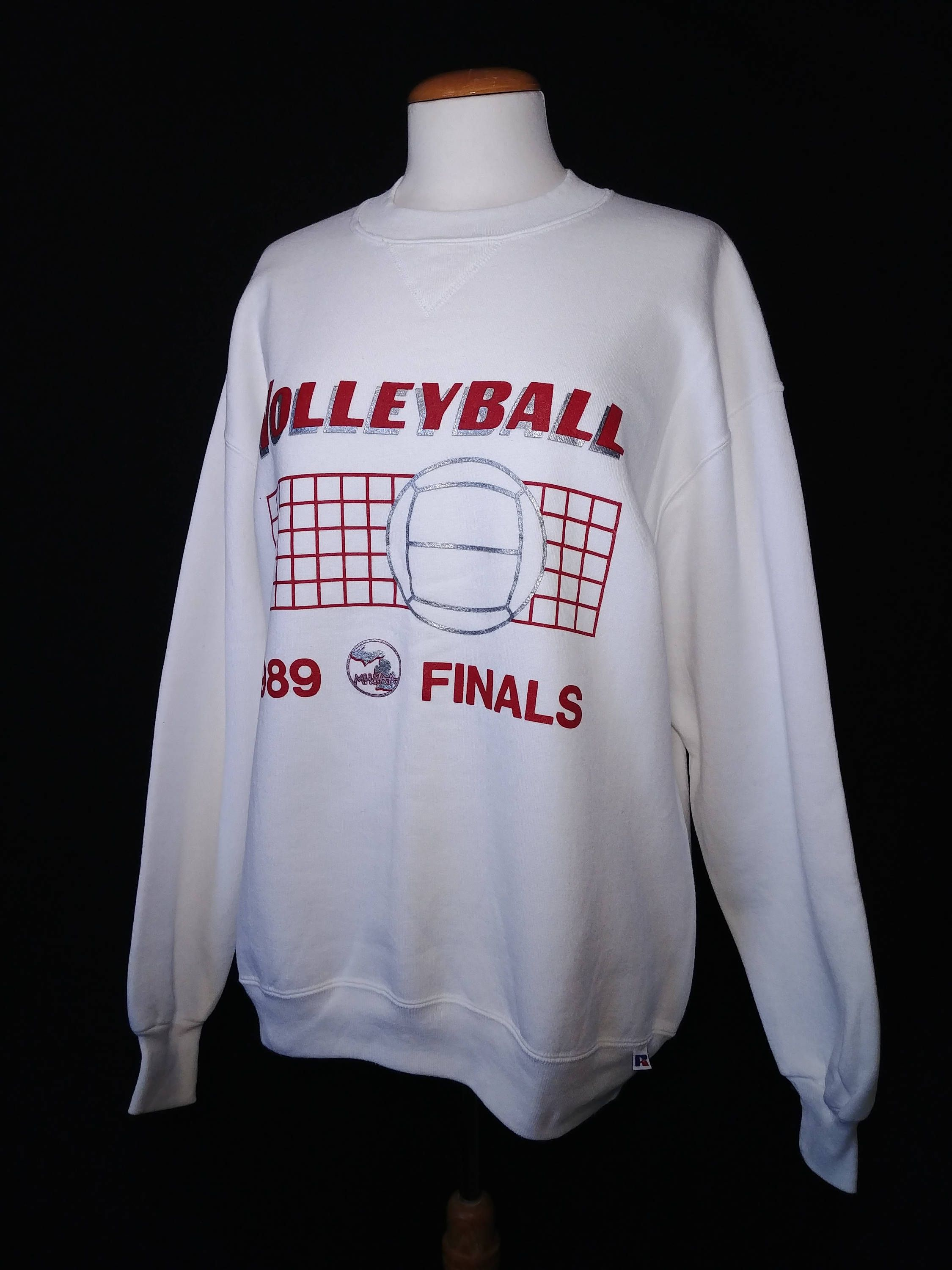 Vintage 80s Volleyball Finals Sweatshirt Manitoba High School Athletic Association Retro 1989 Russell Athletics Volleyball Sweatshirt Volleyball Sweatshirts Sweatshirts Volleyball