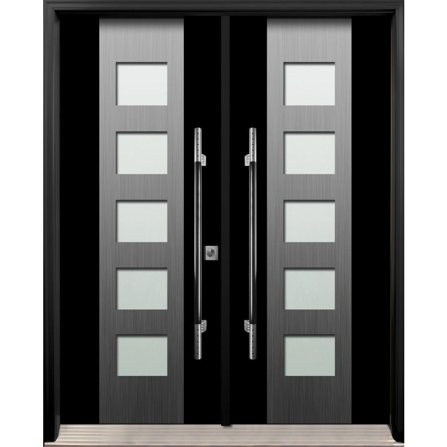 Fiberglass Exterior Double Door Avenue Series Av17 Double Doors Exterior Doors Interior Modern Door Design Modern