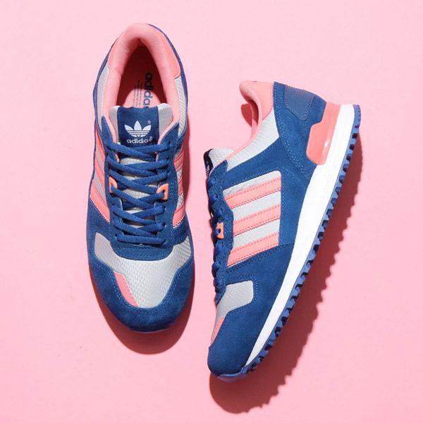 Practical Price Adidas Zx 700 Flyknit Running Sneaker Shoes Womens Blue Light