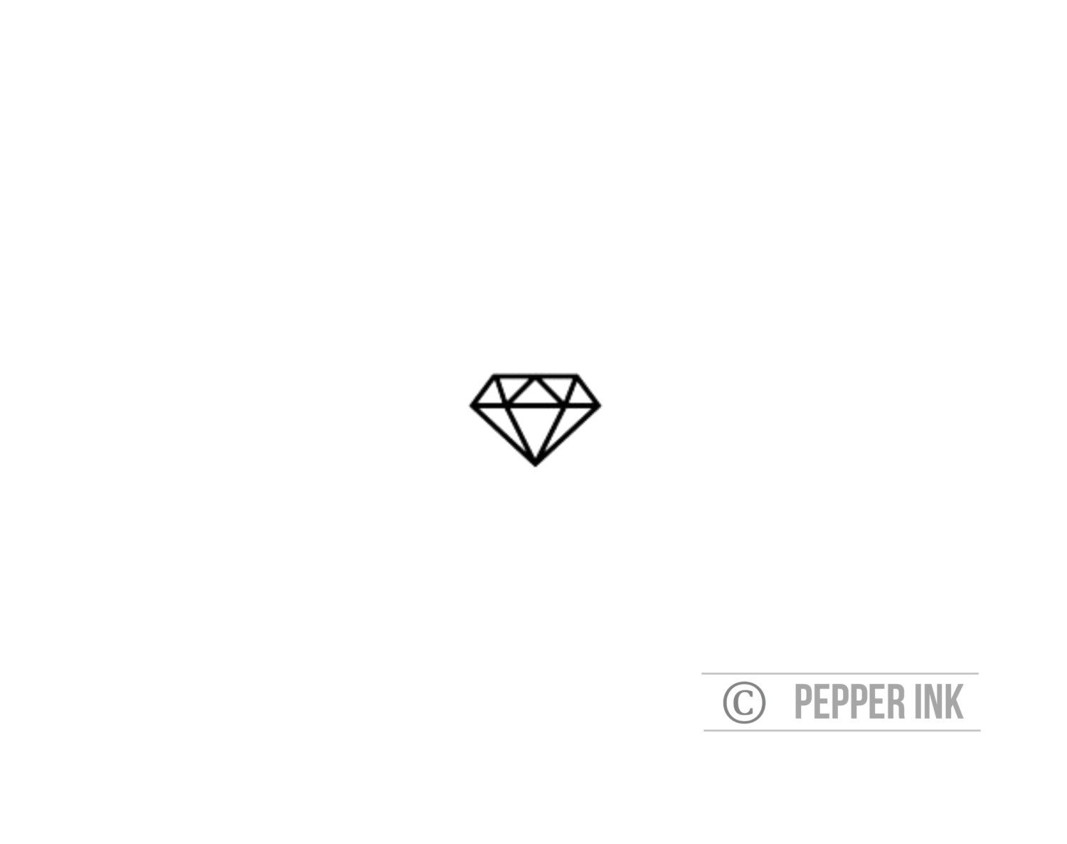 Popular items for diamond tattoo on etsy tattoos for Small art drawings