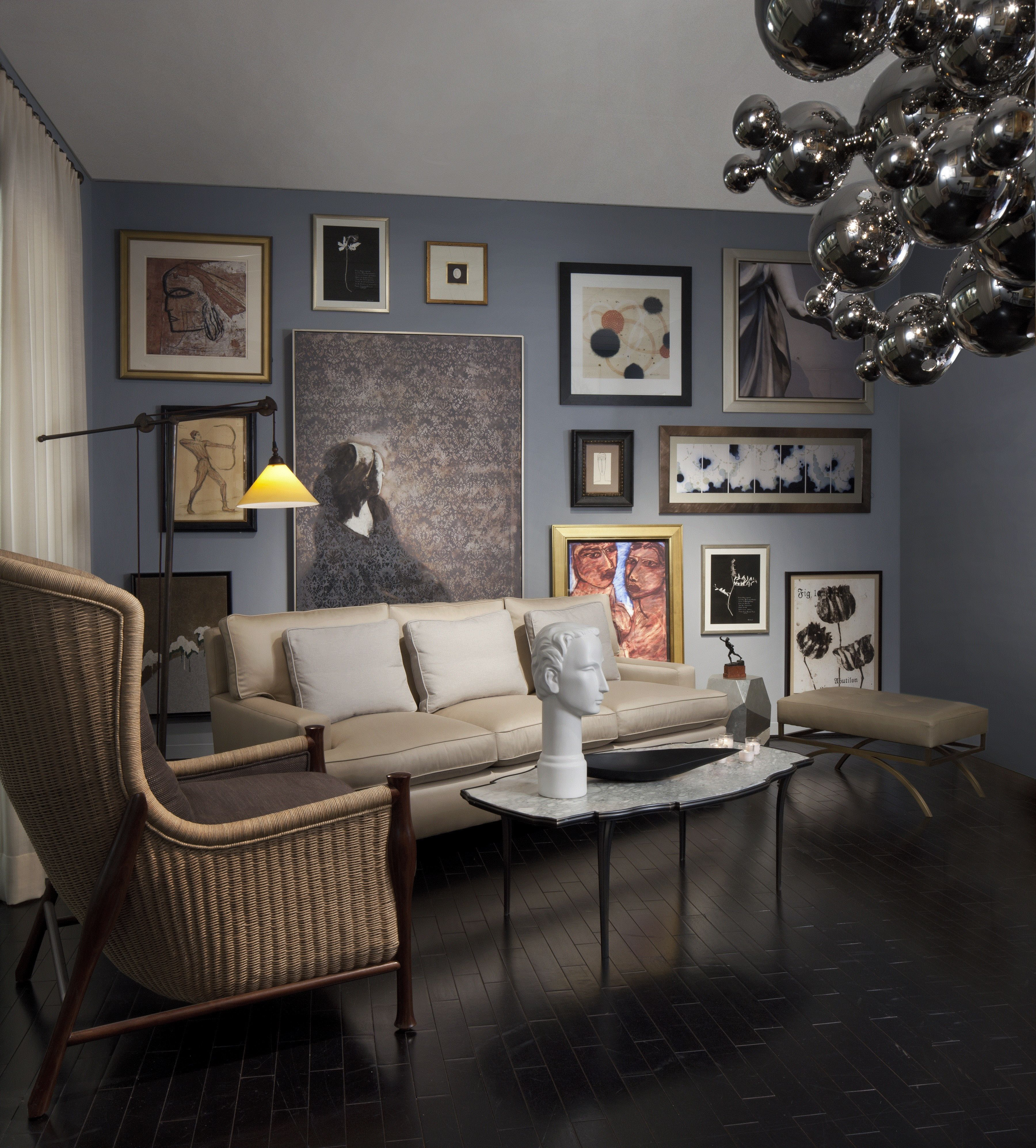 """An Art Critic's Loft"" in Baker Knapp & Tubbs, Suite 60 by Paul Feiten of Paul Feiten Design Photo by Beth Singer Paul Feiten Design"