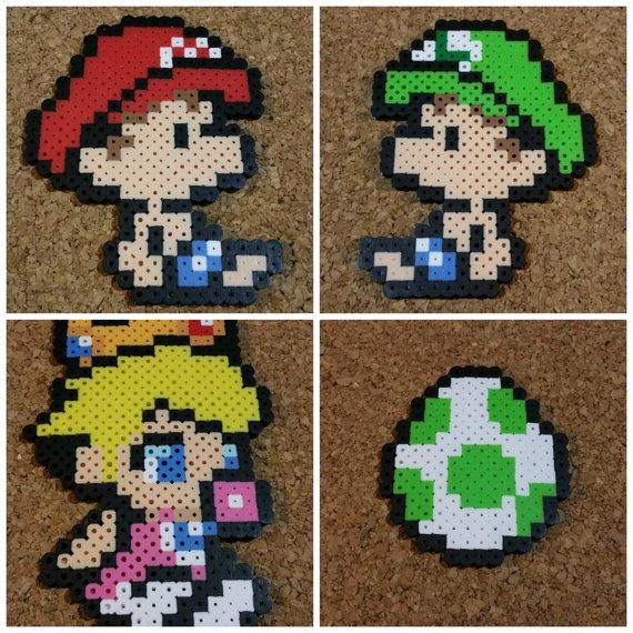 Bebé Mario Luigi Y Peach Grano Sprites Isla De Yoshi