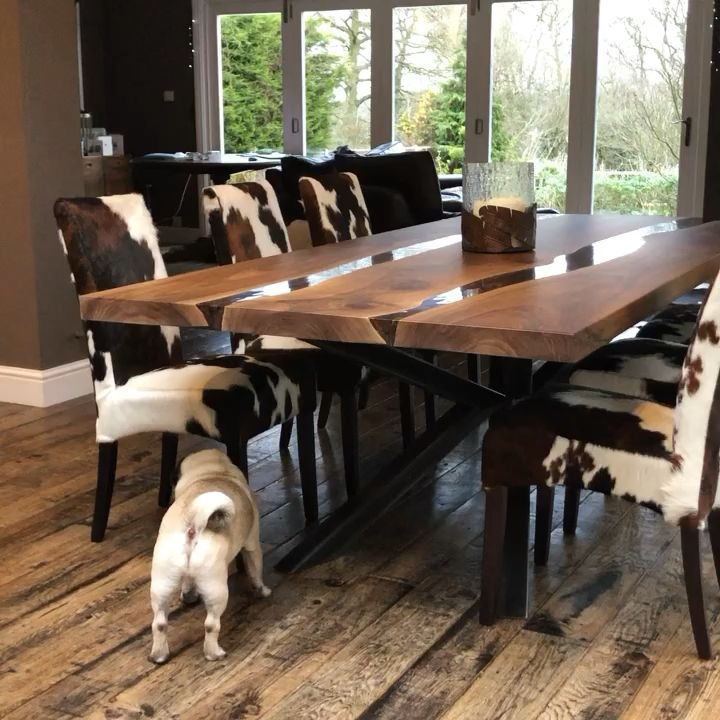 Photo of Walnut Dining Table by Earthy Timber UK