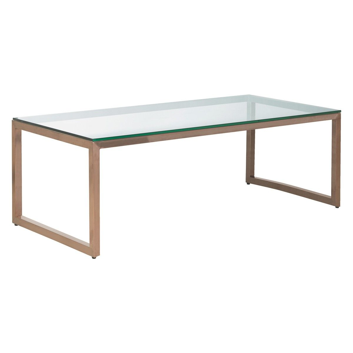 Glass Coffee Tables ~ Tilda glass coffee table with copper base