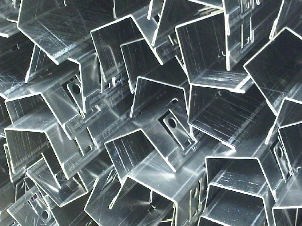 CNC bent aluminium profiles produced on CNC punching and bending plant at Fareham, Hampshire by www.vandf.co.uk