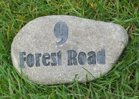 Address Marker, Housewarming Gifts, Stone Rock 6-7 Inch