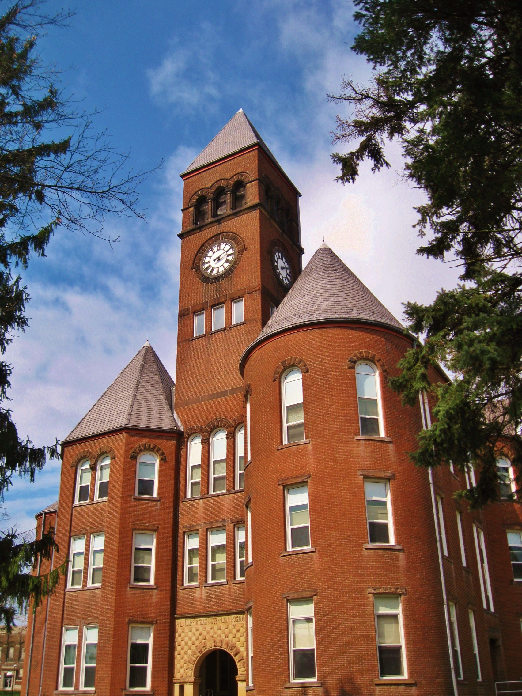 Old Main Slippery Rock University Pa Where My Grandparents
