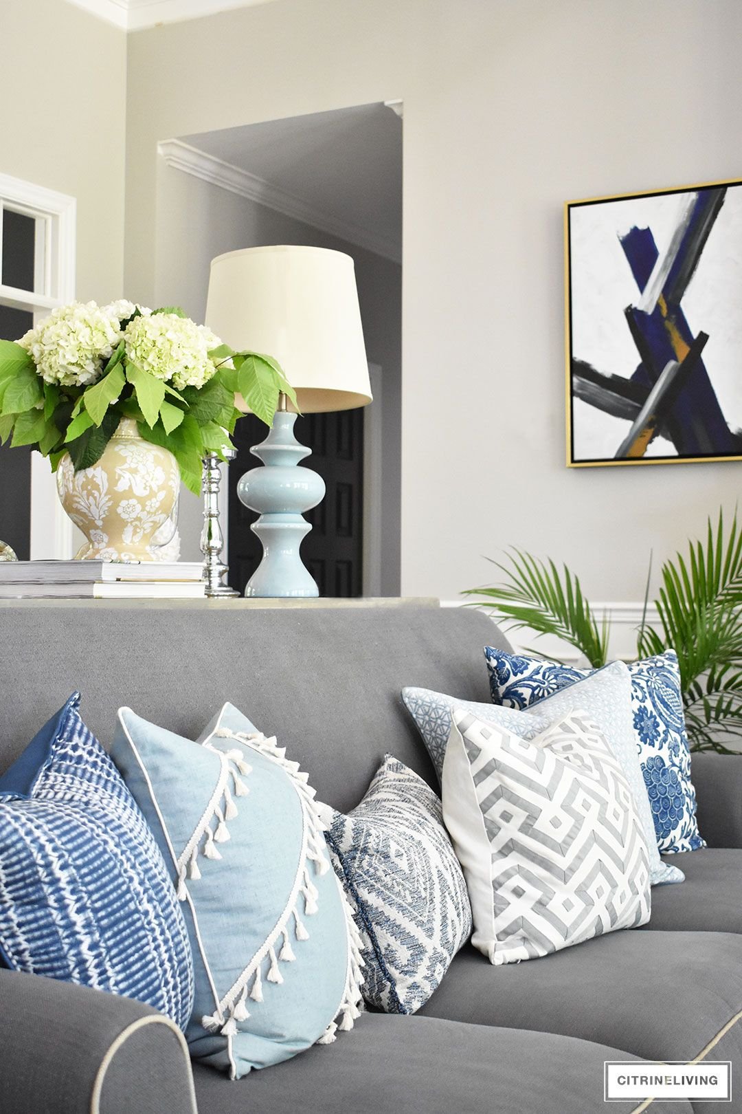 Best Shades Of Summer Home Tour With Beautiful Blues And Fresh 400 x 300