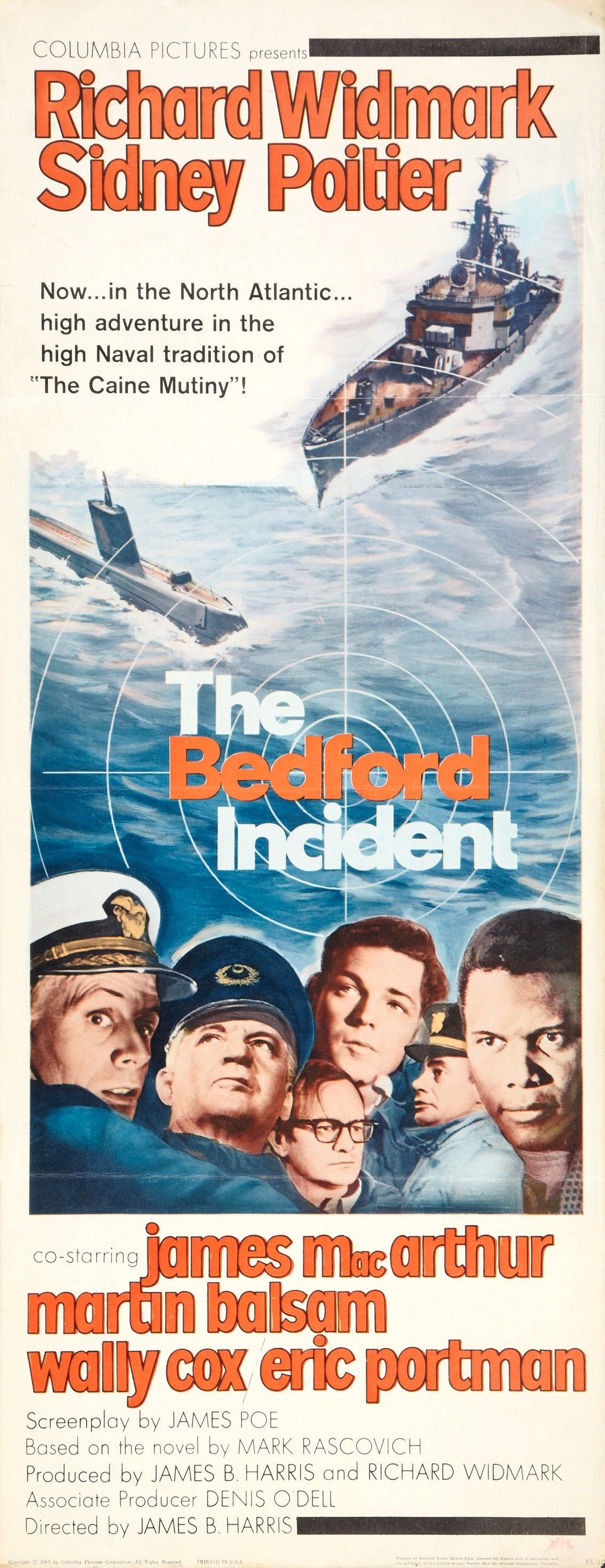 The Bedford Incident 2 Of 5 Old Movie Posters Submarine Movie Columbia Pictures