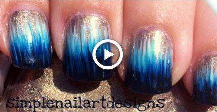 ombre dip dye nail art without a sponge nails  dip dye
