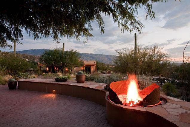 Custom Fire Pit Corten Steel Fire Pit Boxhill Landscape Design Tucson Az