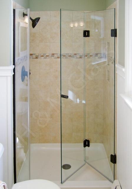 Image result for frameless bifold shower door lancasters for Bi fold screen doors