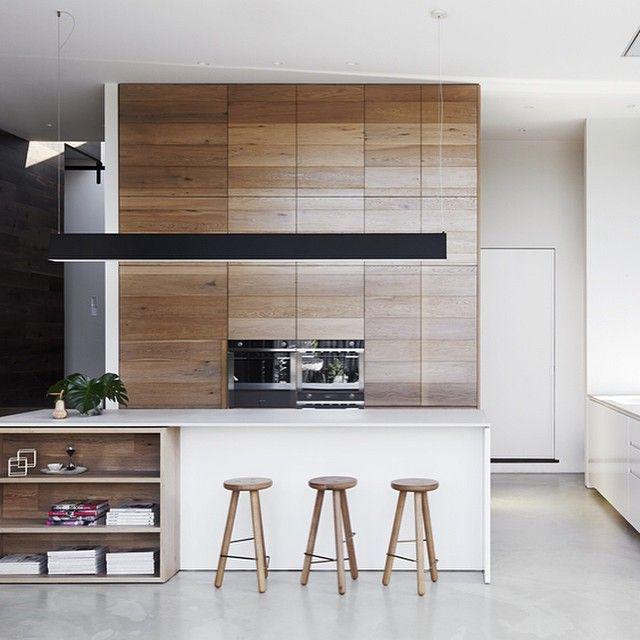 Kitchen Layout Shelving Timber Fluro Runner