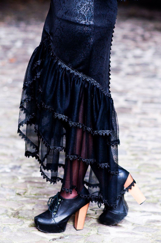 Elegant gothic vampire victorian burlesque glamour extra long skirt