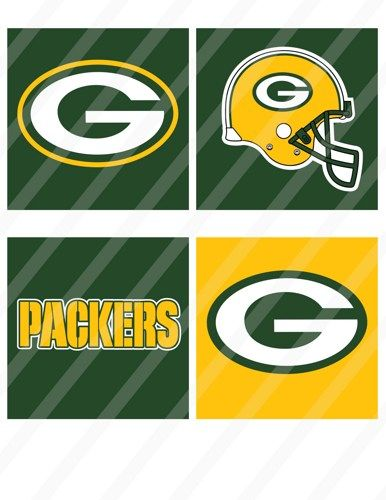 Green Bay Packers Digital Coasters 4x4 Inches Collage 8 5x11 728 Photo Album Scrapbooking Green Bay Nfl Football Logos