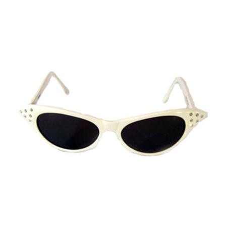 fcc0f947134fb awesome White Cat Eye Sunglasses Wendy Peffercorn Sandlot 50s Movie Grease  Sandy Frenchy