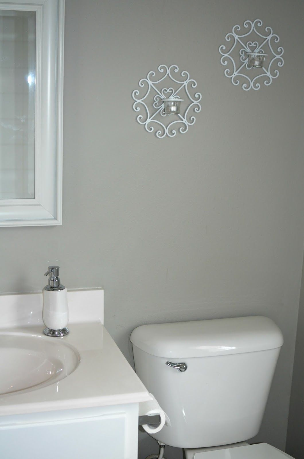 Amazing Grey Paint Gray And White Restroom Sherwin Williams Amazing Gray