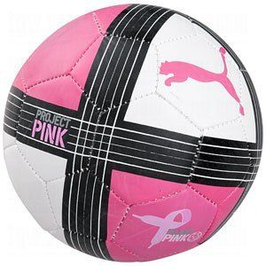 4982c01019b33 Amazon.com: Puma Powercat 1.10 Project Pink Soccer Ball (White, 1 ...