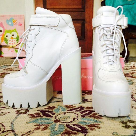 "Selling this ""Jeffrey Campbell Pole Vault Platform"" in my Poshmark closet! My username is: jrose57. #shopmycloset #poshmark #fashion #shopping #style #forsale #Jeffrey Campbell #Shoes"