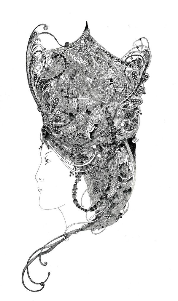 Meyoko illustrations Andromeda Artist inspiration