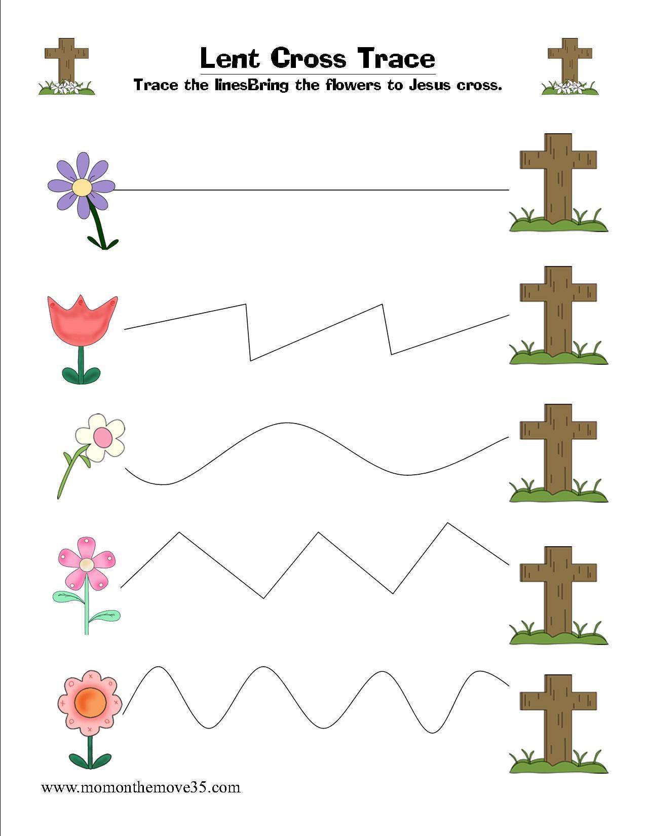 Free Spring Tracing Sheets