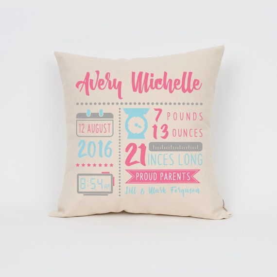 New baby gift birth announcement 16 pillow by finchandcotter new baby gift birth announcement 16 pillow by finchandcotter negle Choice Image