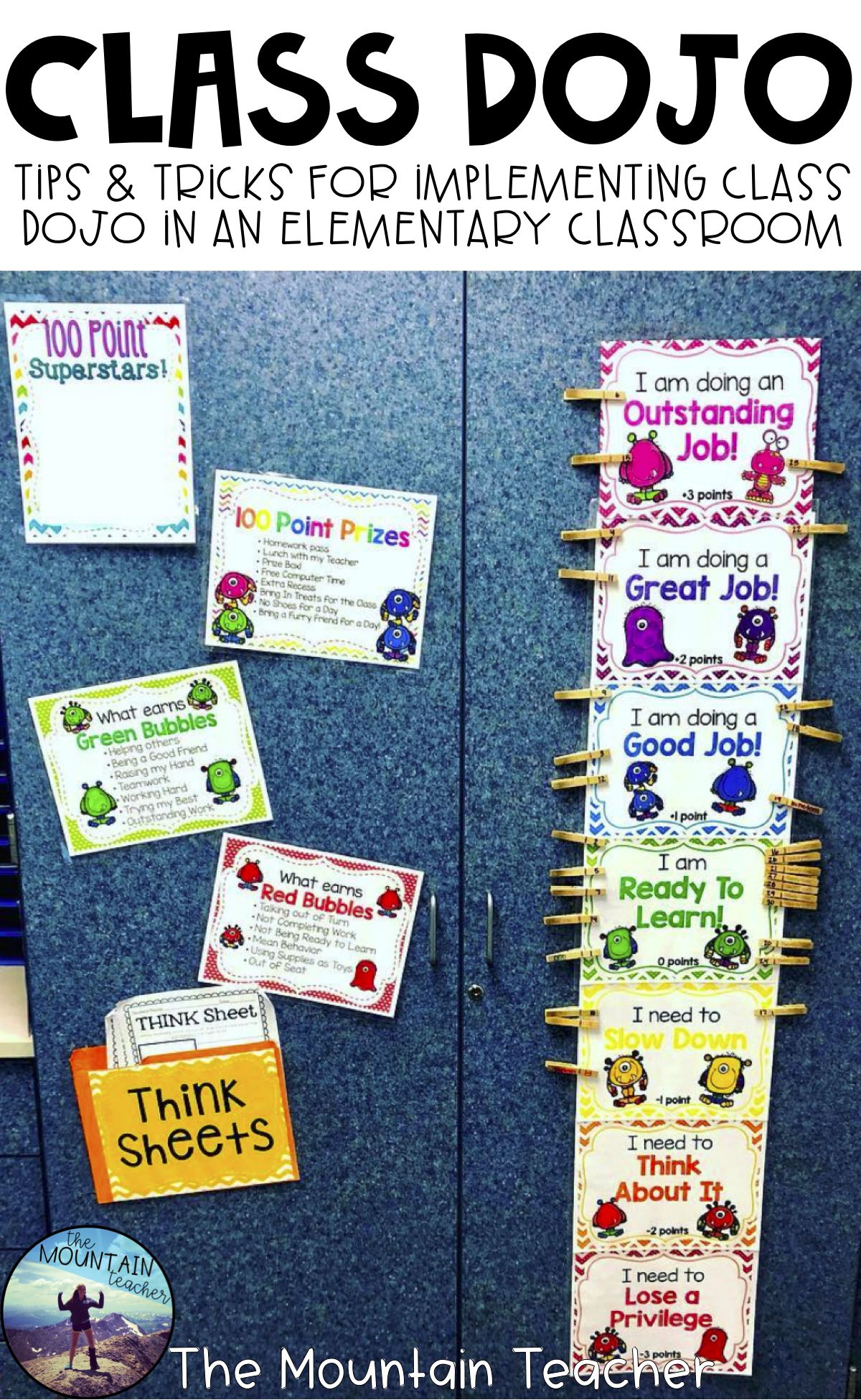 Class DOJO Clip Chart & Behavior Trackers | Second Grade