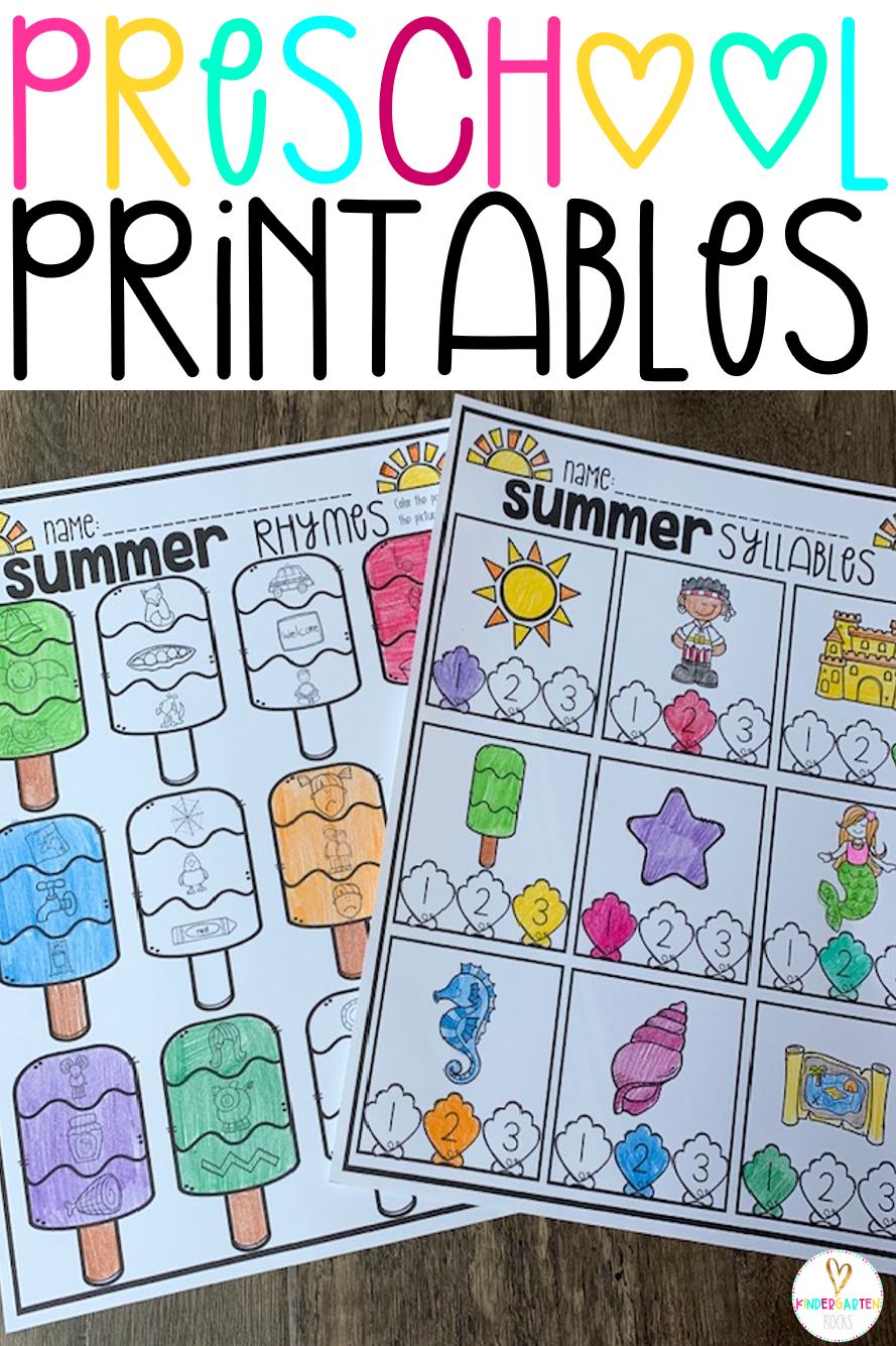 Summer Printables For Preschool Getting Ready For Kindergarten Preschool Activities Printable Summer Preschool Activities Summer Writing Activity [ 1335 x 889 Pixel ]