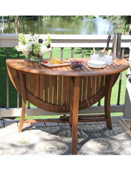 Round Folding Table 48 Eucalyptus Wood Gardeners Com Patio
