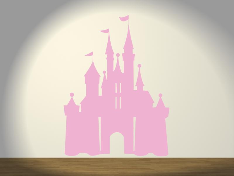Vinilo infantil de un castillo de fantas a decora el for Vinilos para dormitorios infantiles