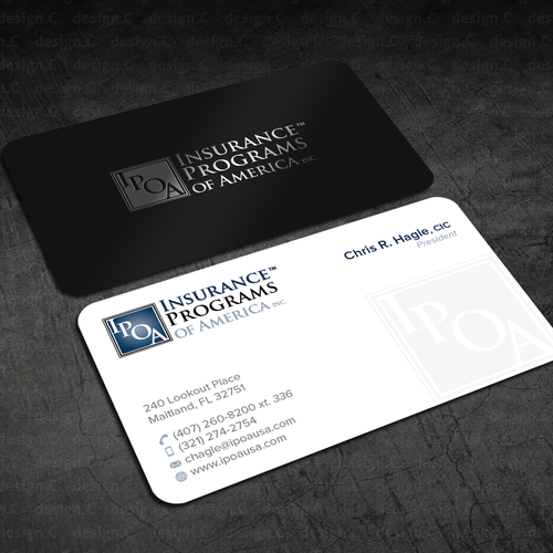 Ipoa Raa Biz Card Design Two Insurance Brokerages Insurance