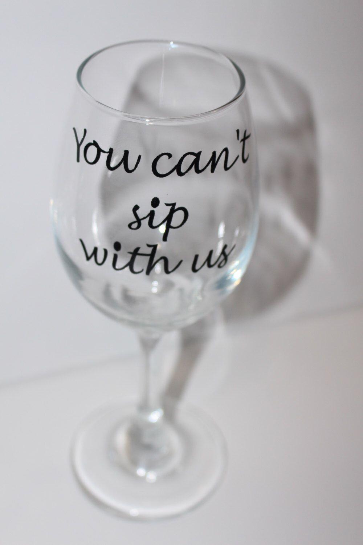 girly wine glass bestfriend wine glass custom wine glass gifts