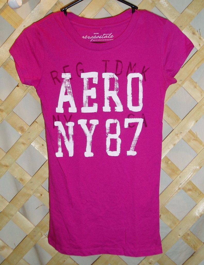 Dark Pink Aeropostale T-Shirt