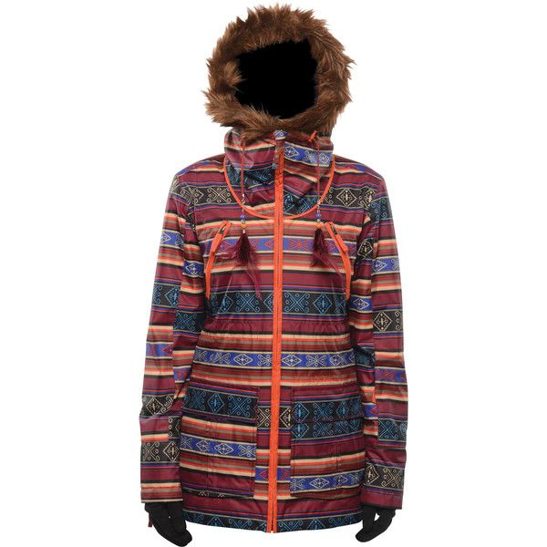 Billabong Womens Jamie Jacket featuring polyvore, fashion, clothing, black cherry, jacket outerwear, outerwear, snow and billabong