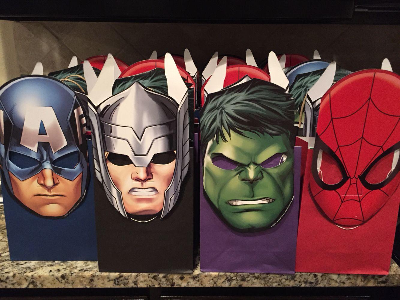 Birthday Gift Bag Boys Avengers Birthday Gift Bag Large Gift Bag