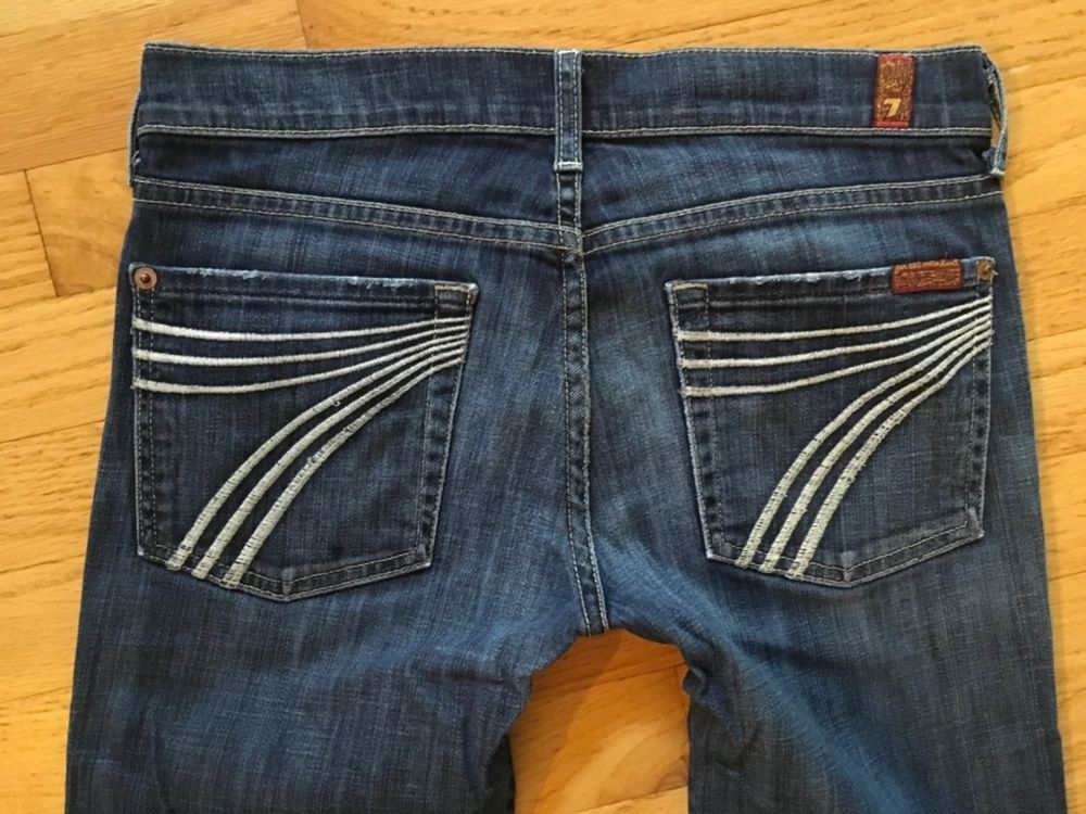 7 For All Mankind Jeans Seven Dojo Sz 27 Great Condition Hemmed