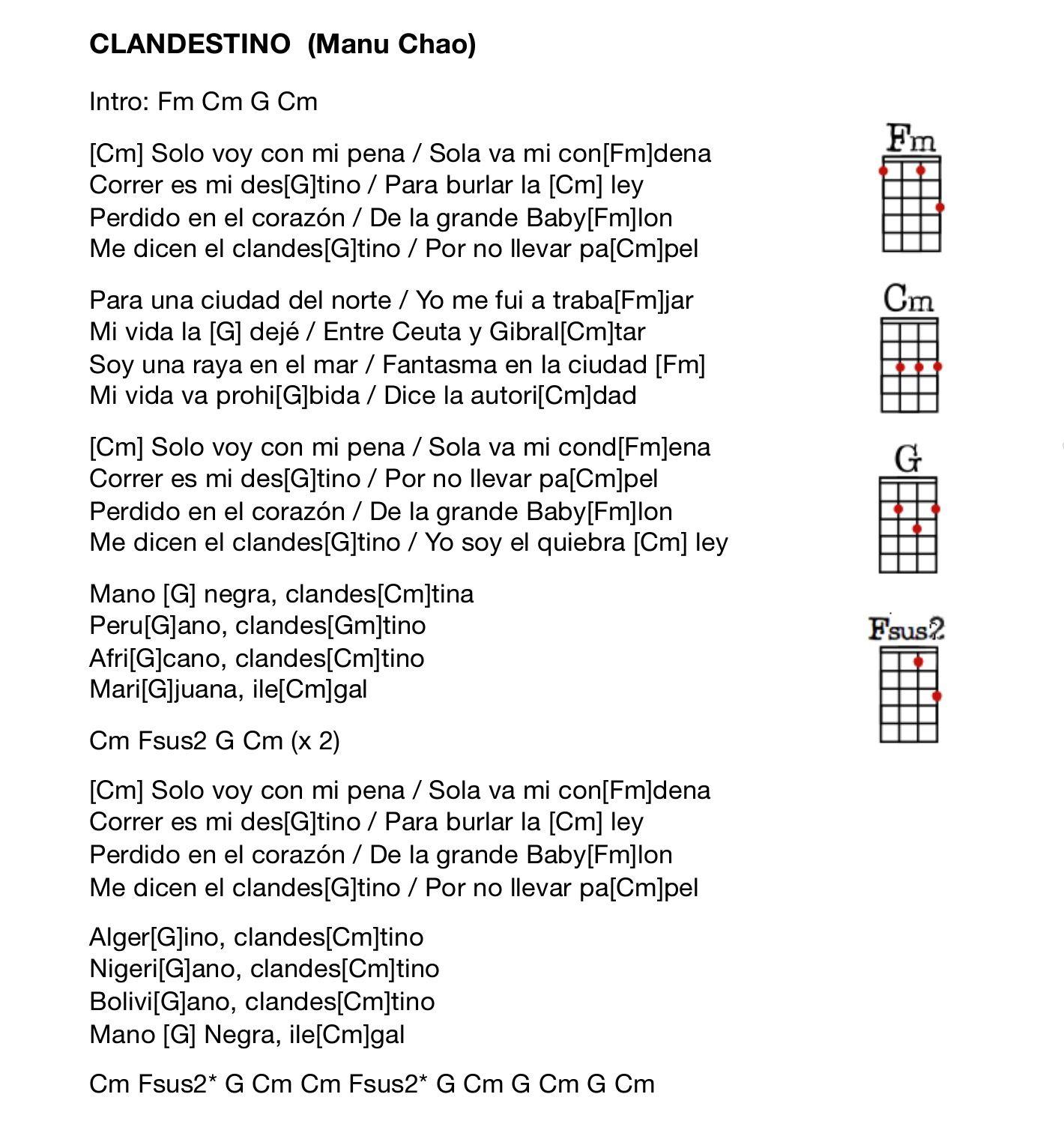 Clandestino ukulele tabs pinterest ukulele tabs clandestino hexwebz Image collections