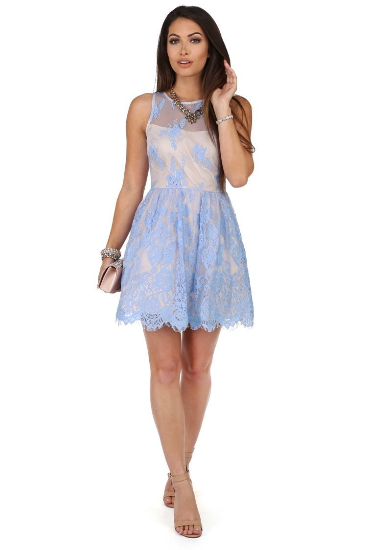 Promo jamie light blue lace formal dress homecoming