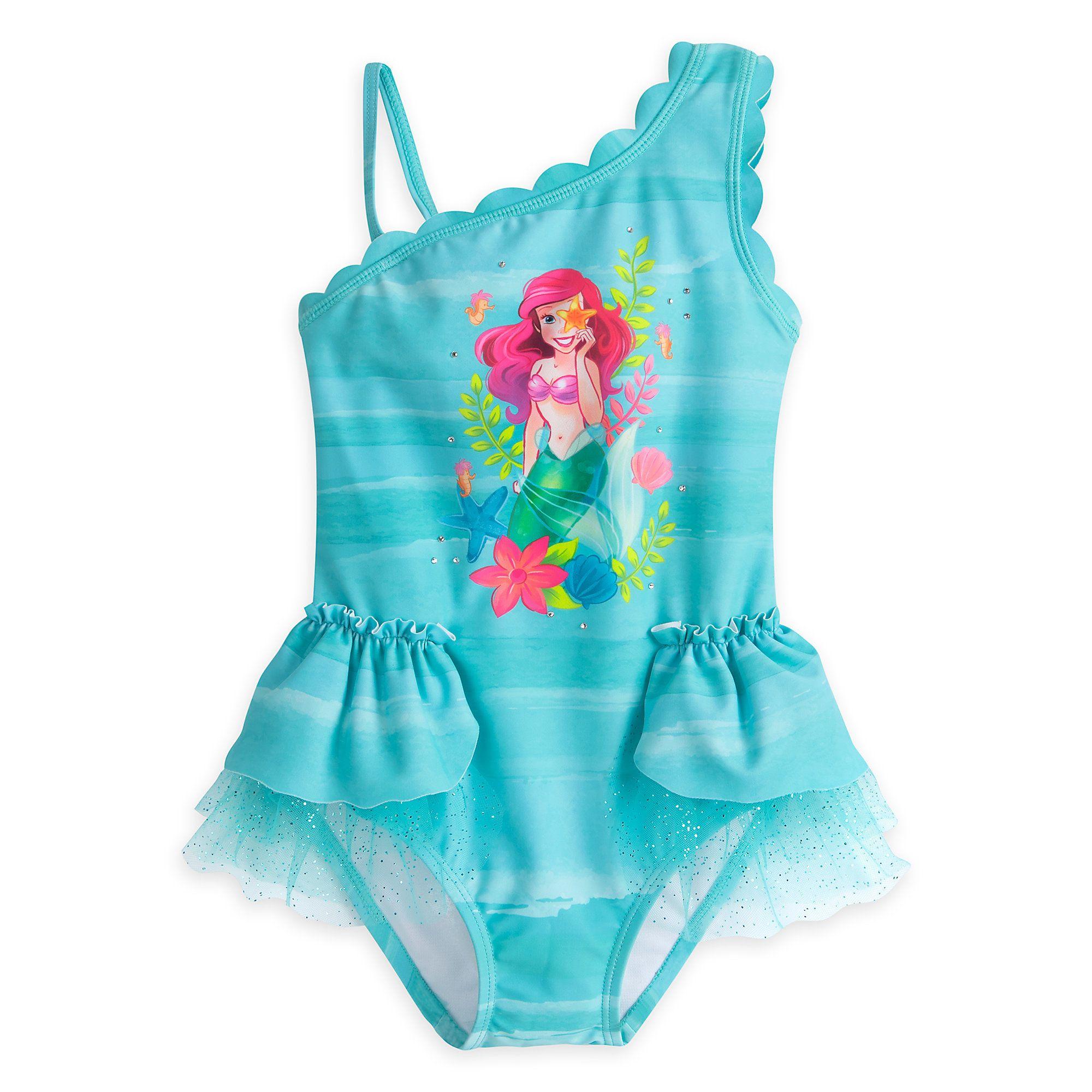 12c7bbf5b0 Ariel Deluxe Swimsuit for Girls | DISNEY | Pinterest | Swimsuits ...