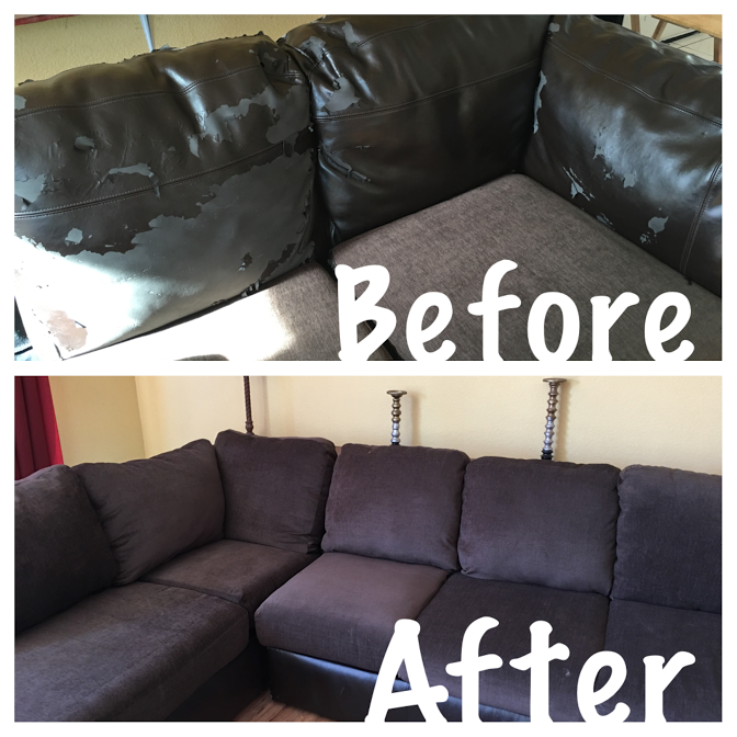 How To Reupholster Attached Couch Cushions It S Been A Very Long Time Since I Ve Posted Any Projects But Here We Go Hav