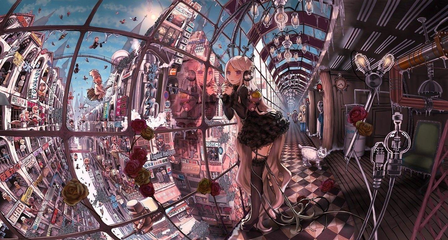 壁紙 2次元の幻想的な風景 夜景の画像part1 禿同ニュース速報 まとめサイト 綺麗な風景 イラスト 幻想的