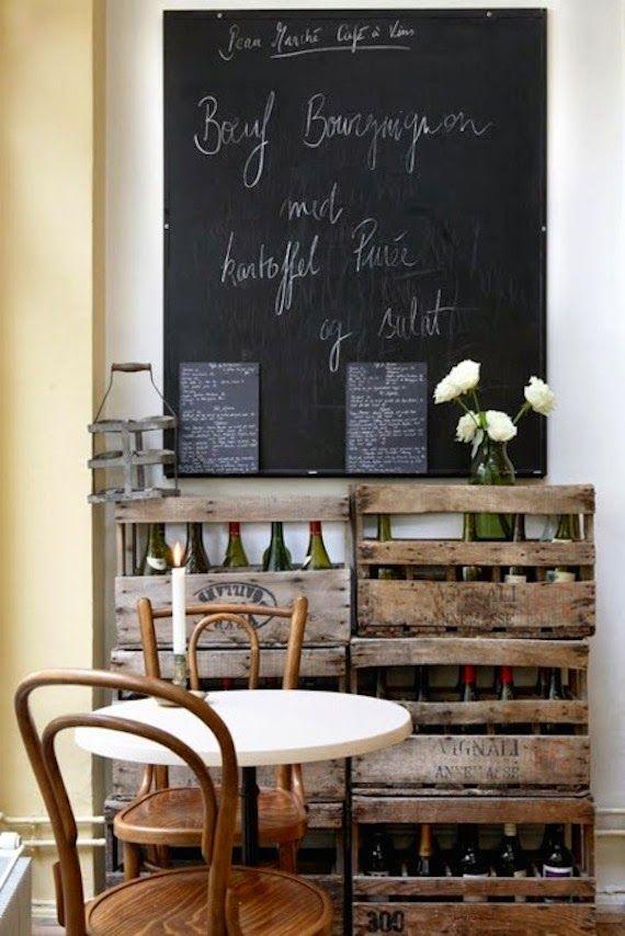 cocinas con paredes decoradas con pizarras caf verde