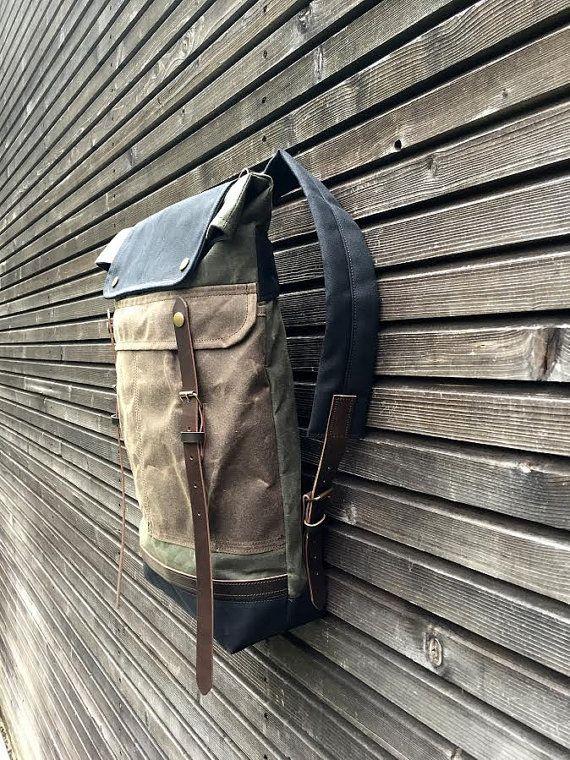 Encerado lona morral / mochila con doblado por treesizeverse