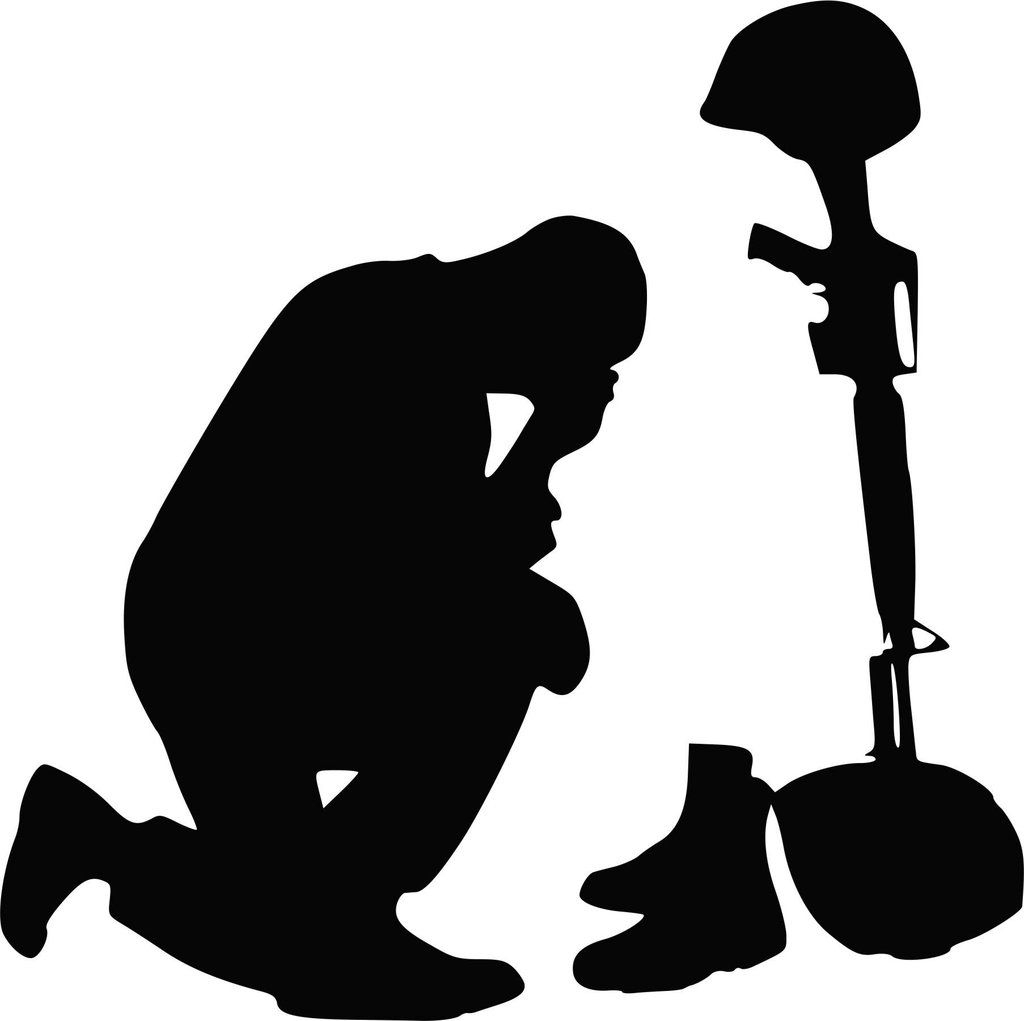 Praying Soldier Vinyl Decal Soldier Silhouette
