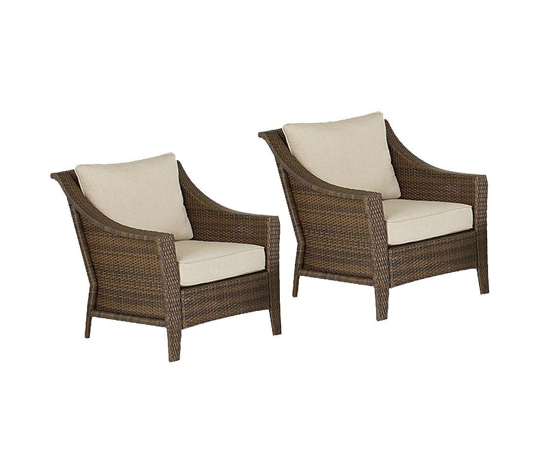 Threshold Rolston 2Piece Wicker Patio Club Chair Set