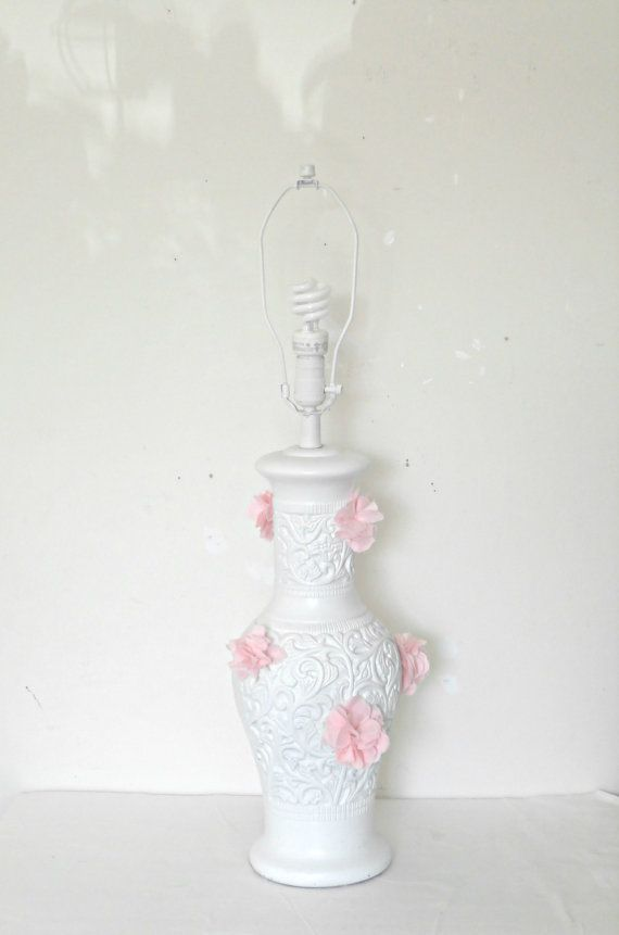 Shabby chic table lamp flower lamp french country decor by 222lane shabby chic table lamp flower lamp french country decor by 222lane 6222 mozeypictures Images