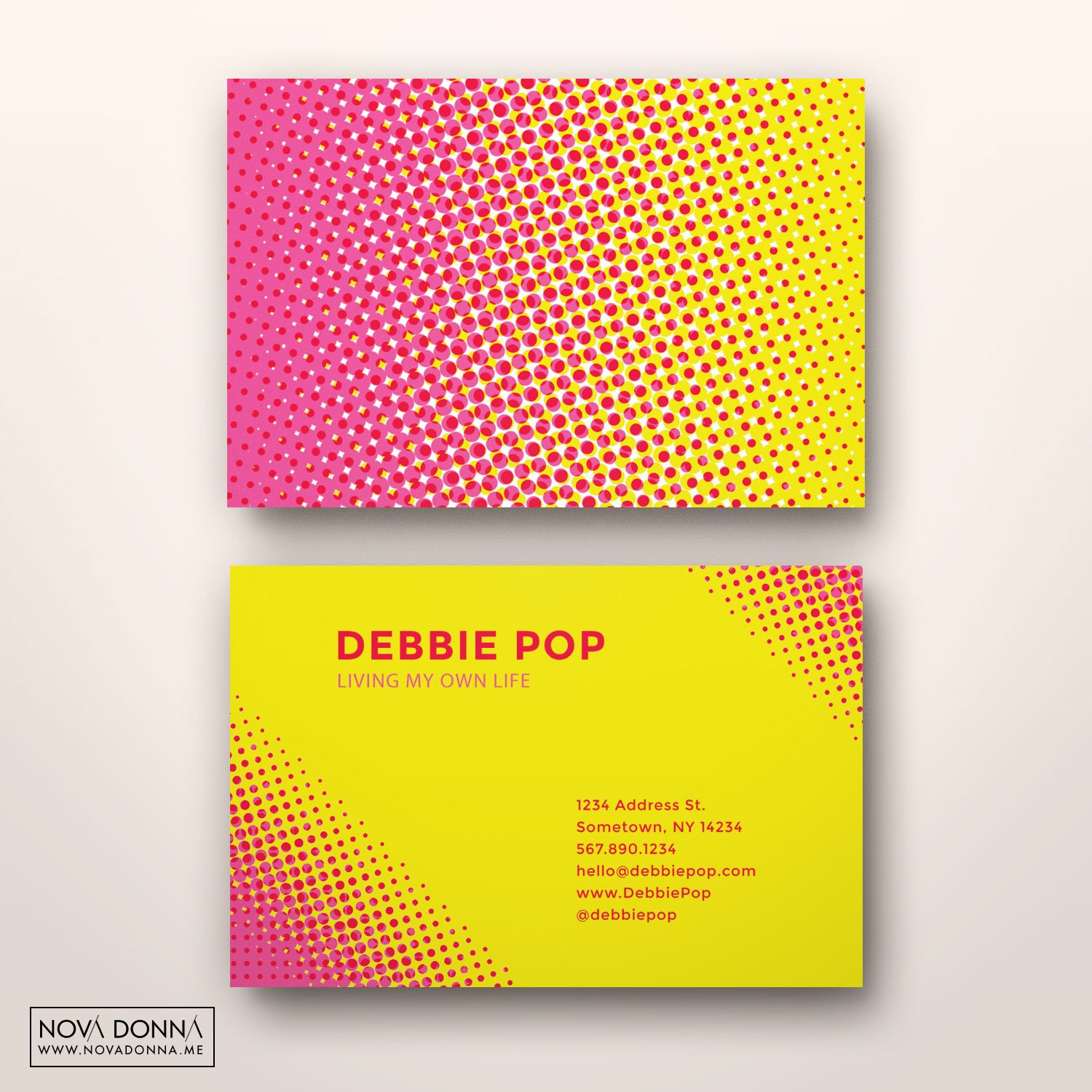 Business card template designs halftone pop business card design business card design templates halftone pop cheaphphosting Image collections